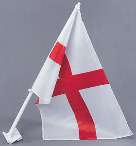 TWO St George Car Flags