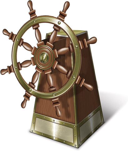 Pirate Ship's Wheel Decoration