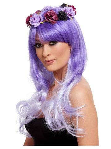 Lilac Day of the Dead Glam Wig