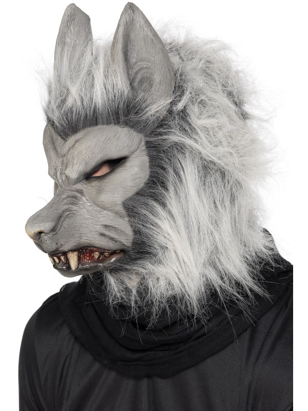 Grey Warewolf Mask with Ears