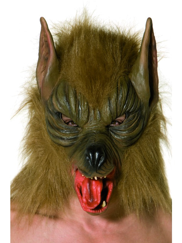 Brown Overhead Wolf Mask