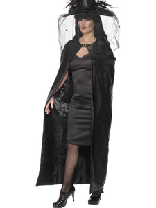 Deluxe Black Witches' Cape