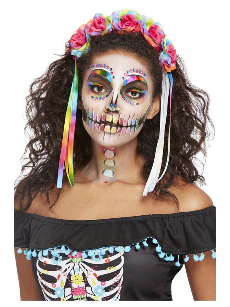Rainbow Day of the Dead Bright Make Up Kit