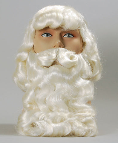 Superior Father Christmas Wig & Beard Set