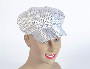 Silver sequinned Cap