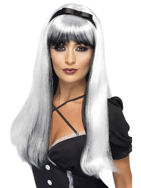 Silver over Black Bewitching Wig