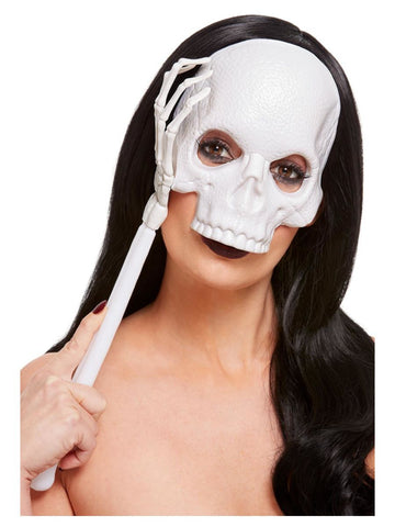 Skull Mask with Skeleton Arm Handle