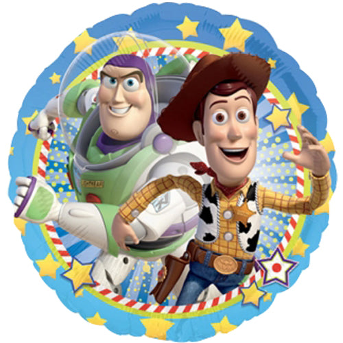 "18"" Woody & Buzz Toy Story Foil Balloon"