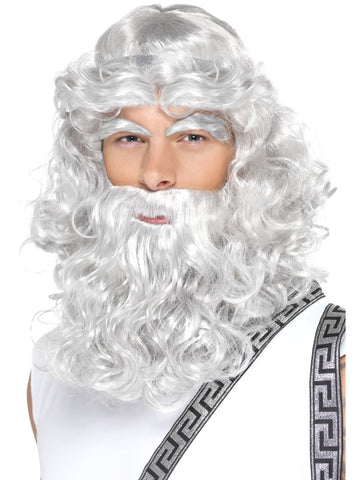 Zeus Wig, Beard & Eyebrows Set