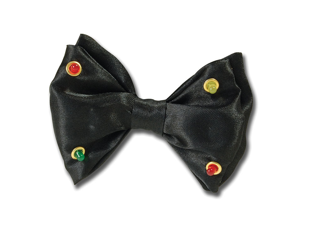Black Flashing Bow Tie