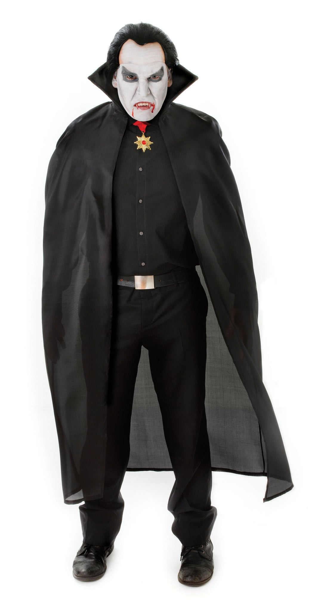 "Black 56"" Fabric Cape"