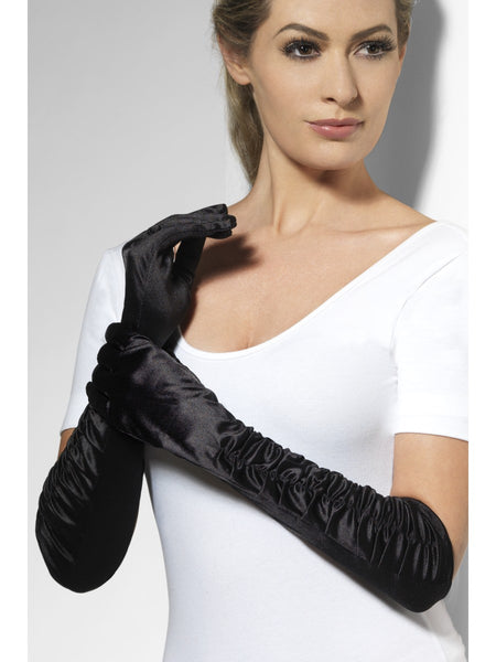 Long Black Temptress Gloves