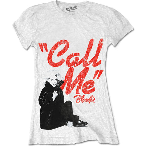 Fitted Blondie Call Me T-Shirt