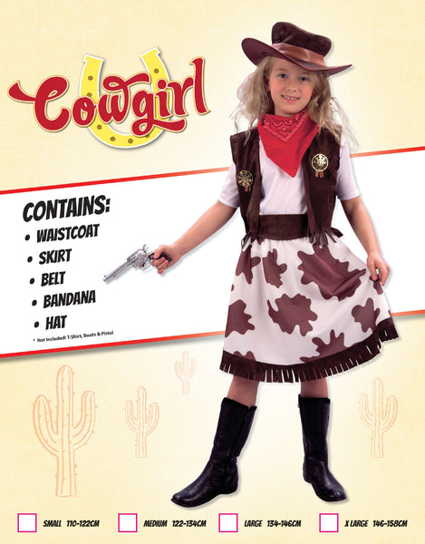 Cowprint Cowgirl Costume