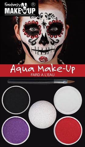 Day of the Dead Aqua Make Up Kit