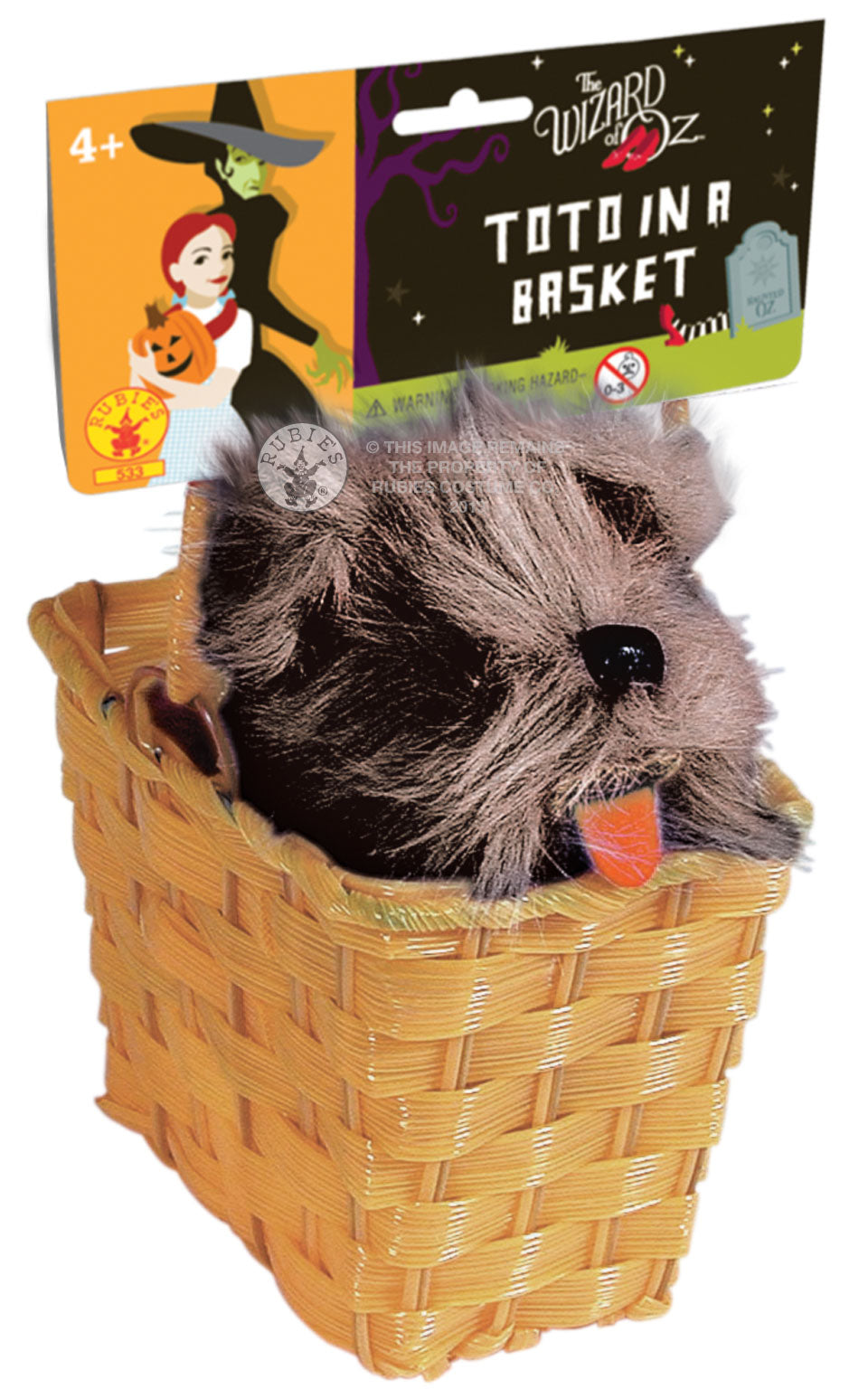 Dorothy's Dog Toto in Basket