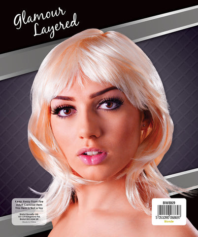 Blonde Glamour Layered Wig