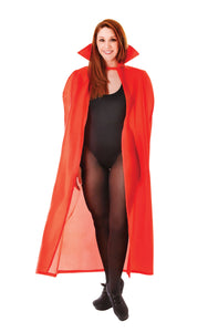 "Red 56"" Fabric Cape"