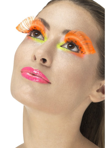 Neon Orange 80s Polka Dot Eyelashes