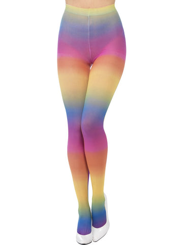 Opaque Rainbow Tights