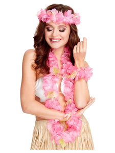 Pink Hawaiian Garland Set