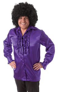 Purple Satin Shirt