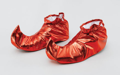 Red Jester or Elf Shoe Covers