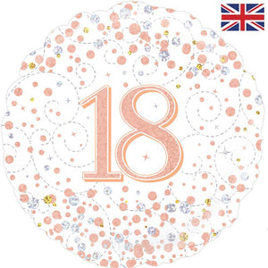 "18"" Rose Gold Fizz 18th Birthday Foil Balloon"