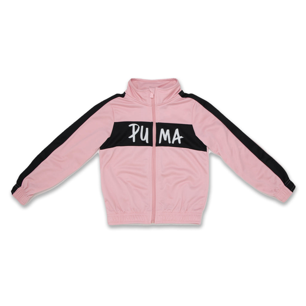 PUMA Little Girls Track Jacket Features Panel Constructed Design Full Length Front Zipper and PUMA Logo Across Chest