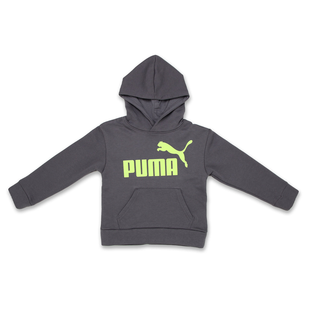 PUMA Little Boys Classic Pullover Graphic Fleece Hoodie Sweatshirt Features PUMA Big Cat Logo On Chest and Kangaroo Pocket