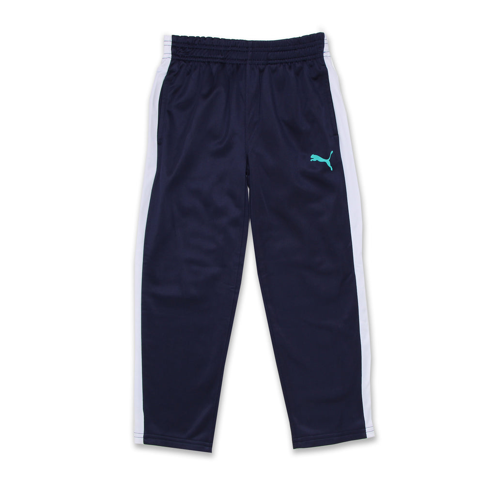 PUMA Little Boys matching tracking pants joggers Pants Feature Covered Elastic Waistband
