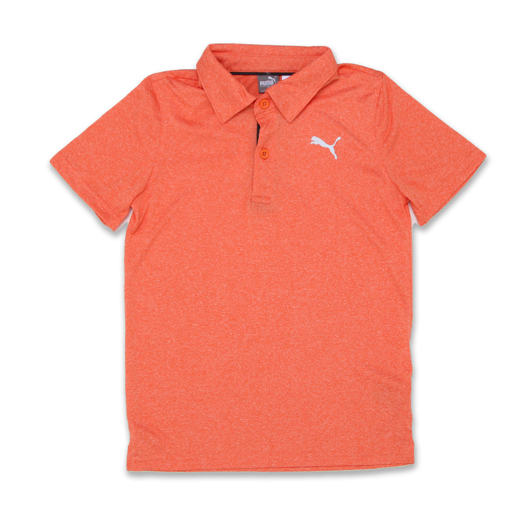 PUMA Big Boys Athletic Performance Short Sleeve Polo Tee Shirt made of Silky Performance Fabric with 2 Button Placket and Reflective PUMA Cat Logo