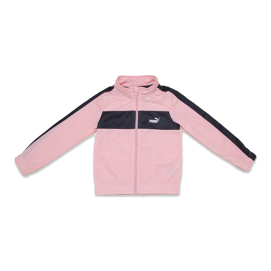 PUMA Little Girl Sweater has Panel Construction On Chest And Sleeves Track Jacket Features Elastic Hem And Cuffs On Sleeves PUMA Big Cat Logo On Chest