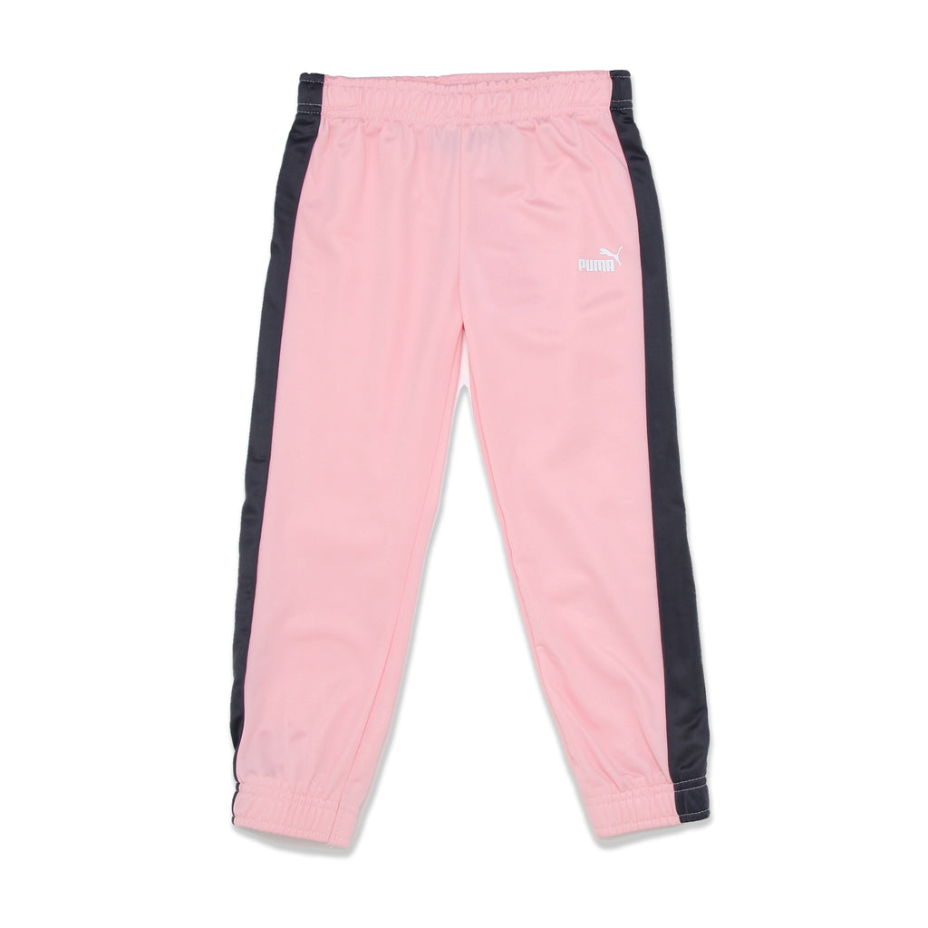 PUMA Little Girl Jogger Bottoms Feature Covered Elastic Waistband And Cuffs with big cat logo on leg