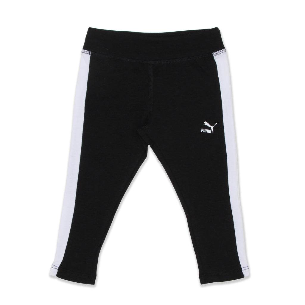 PUMA Baby Girls matching leggings have Athletic Contrast Color Stripe On Pant Leg and come with Elastic Waistband