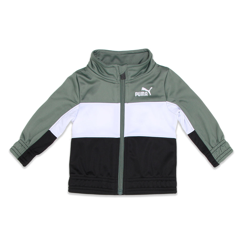 PUMA Baby Boys Jacket Features Embroidered PUMA Big Cat Logo On Chest with Elastic Cinch Cuffs And Hem