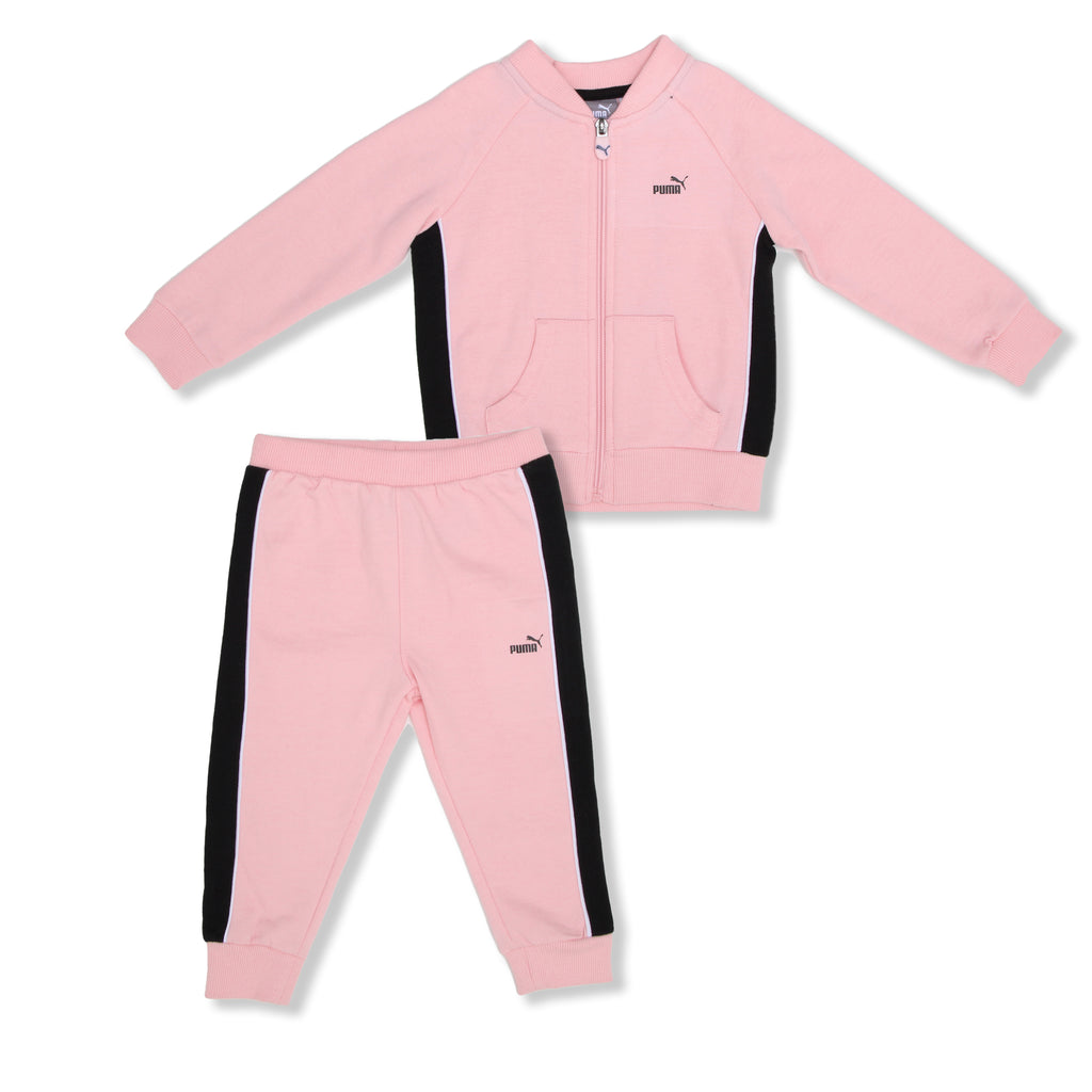 PUMA Baby Girls 2 Piece set includes ZipUp Crewneck Sweater Jogger Pant Set