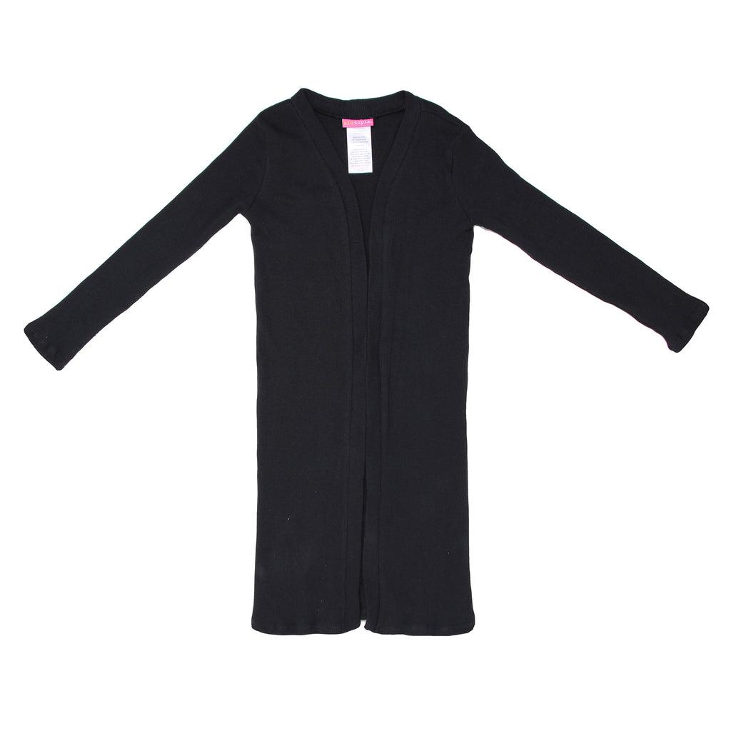 Girls long sleeve black cardigan sweater part of a two piece dress set
