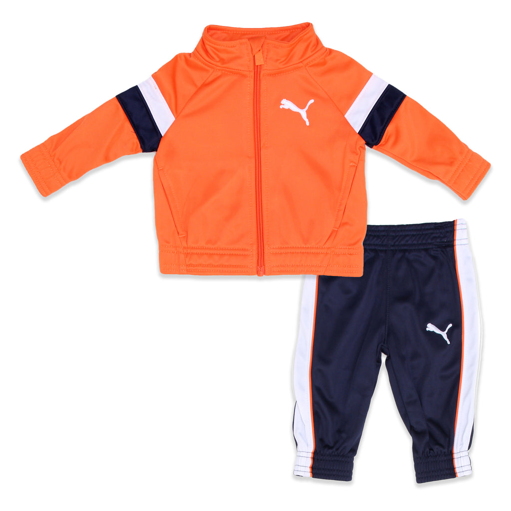 PUMA Baby Boys 2 Piece Set Includes Zip Up Longsleeve Track Jacket Sweater And Jogger Track Pants