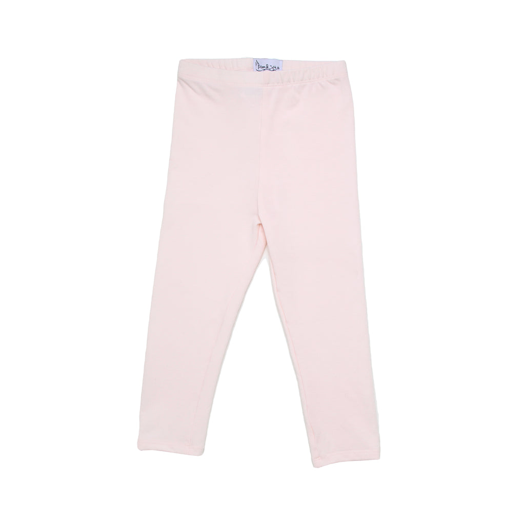 Little girls Pippa and Julie light rose pink stretch legging pant bottoms part of a 3 piece set