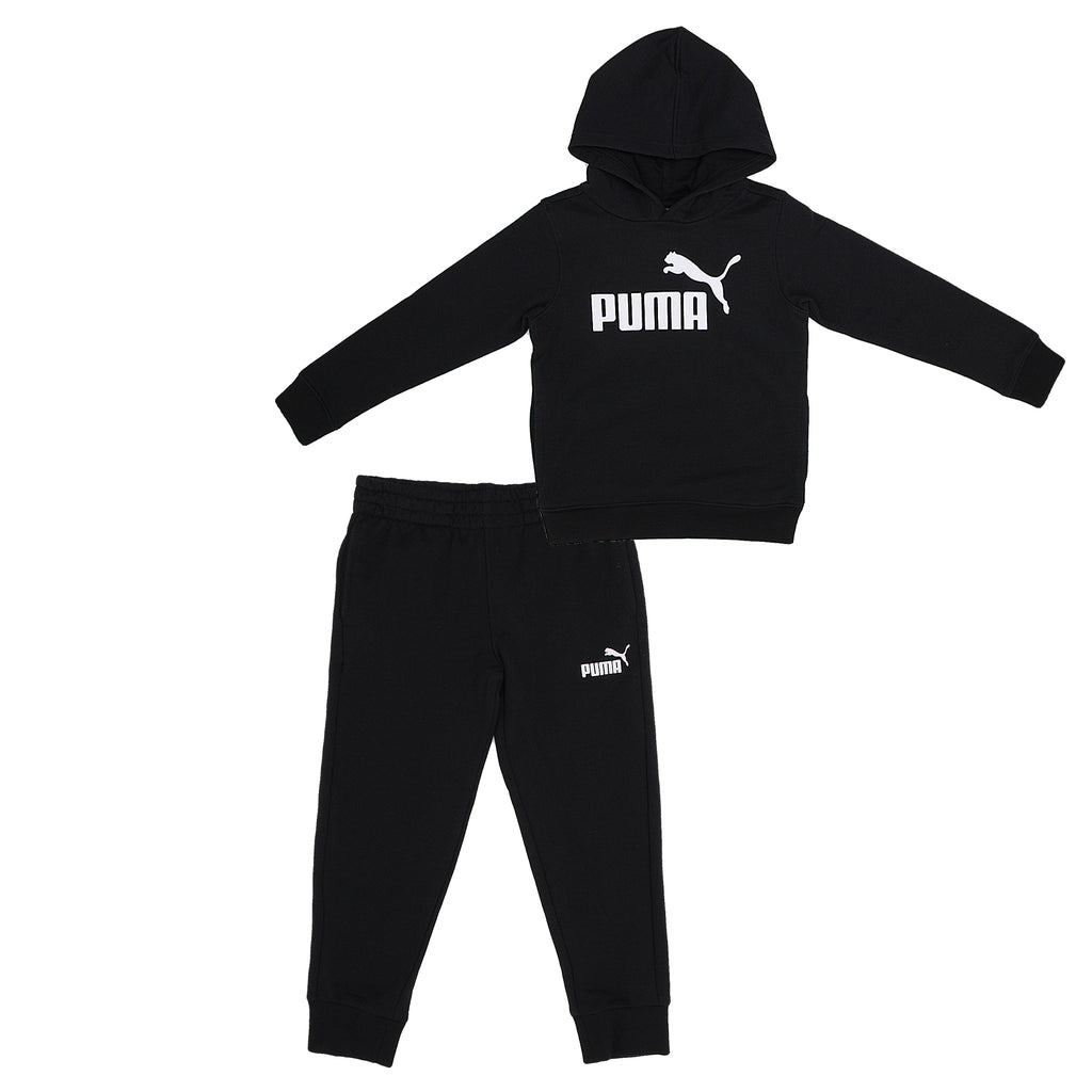 PUMA Little Boys 2 Piece Set Includes Hooded Pull Over Sweatshirt And Jogger Pants