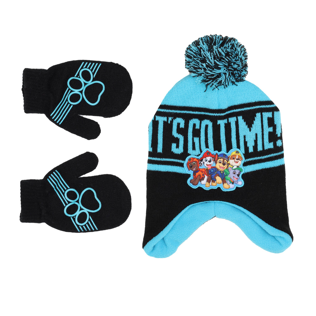 Nickelodeon Toddler Boy Paw Patrol Winter 2 Piece Set Includes Beanie Hat Cap And Mitten Pair