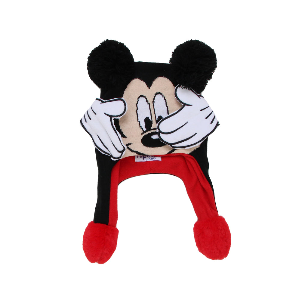 Disney Little Boys Mickey Mouse Flipeez 3D Moving Action Hat Toy that Has A Squeeze Button That Moves Mickey's Hands and Features 3D Pom Pom Ears