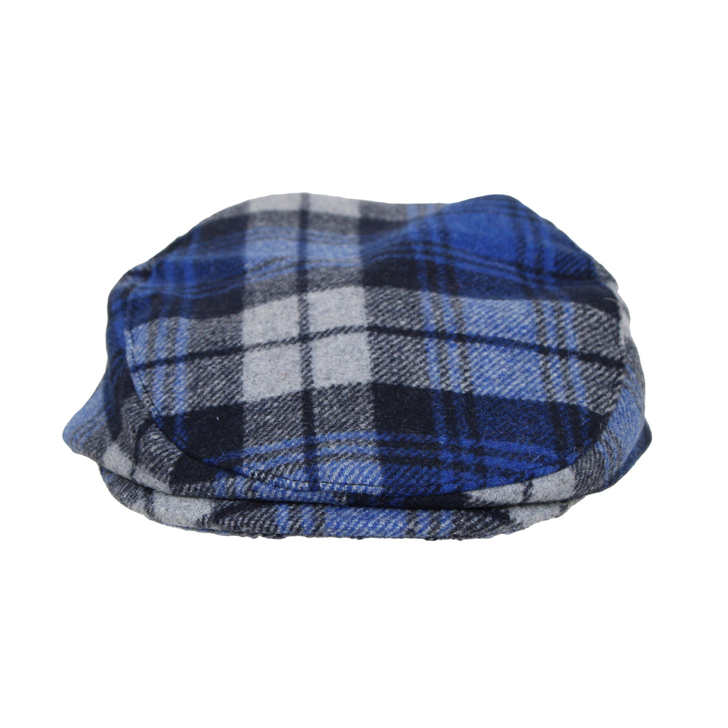 Addie & Tate Baby Boy Plaid Ivy Cap Fancy Wool Tuck Brim Golf Hat with Elastic Backing
