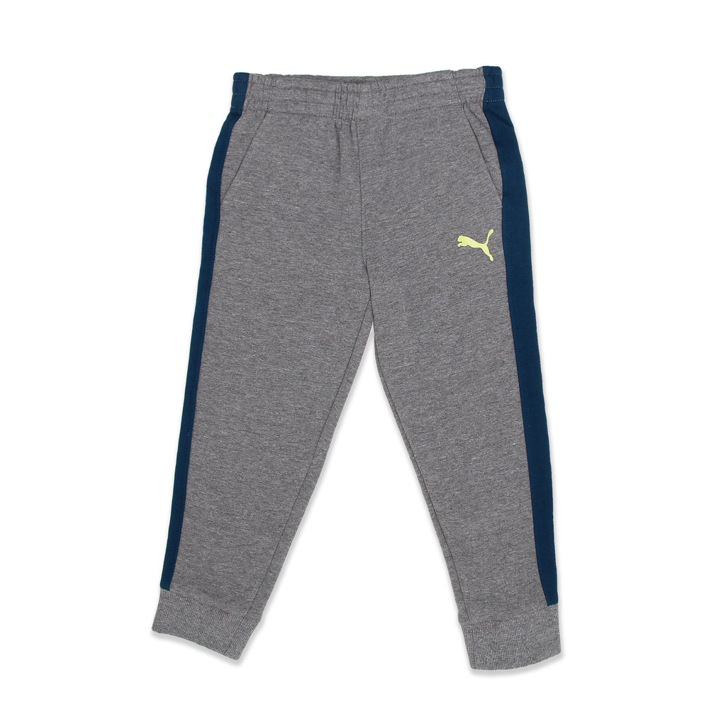 PUMA Little Boys matching Joggers Feature Covered Elastic Waistband Bottoms Feature Ribbed Leg Cuffs