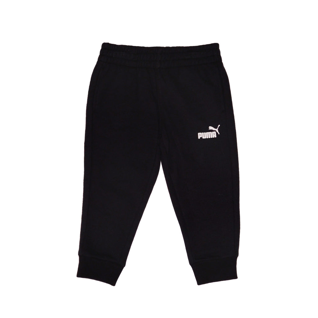Baby toddler boys PUMA solid black sweatpants jogger pant bottoms part of a set of two