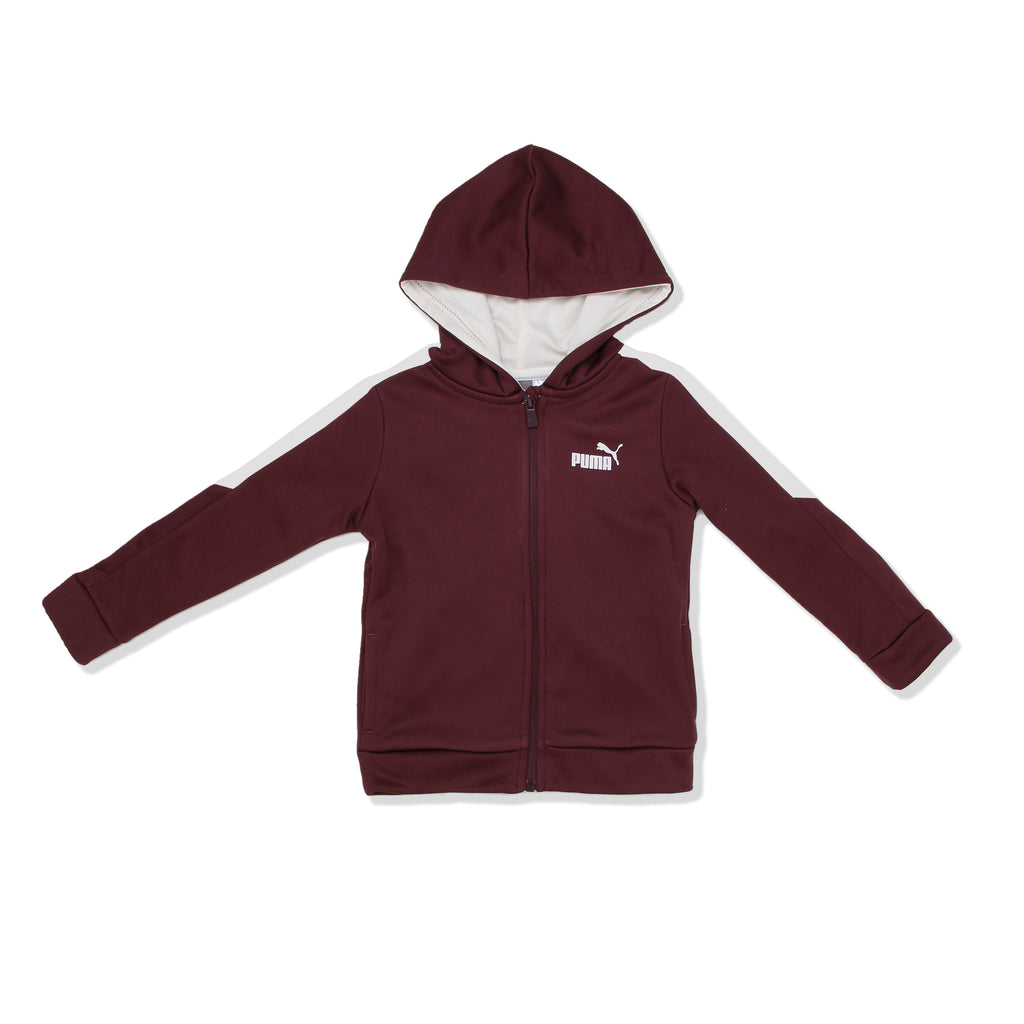 PUMA Toddler Boys three Piece set Hoody Jacket Features Full Front Zip Up And two Front Pockets with PUMA Big Cat Logo On Chest