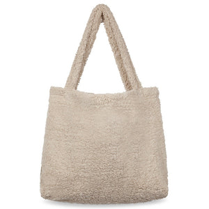 studio noos // chunky teddy mom bag beige