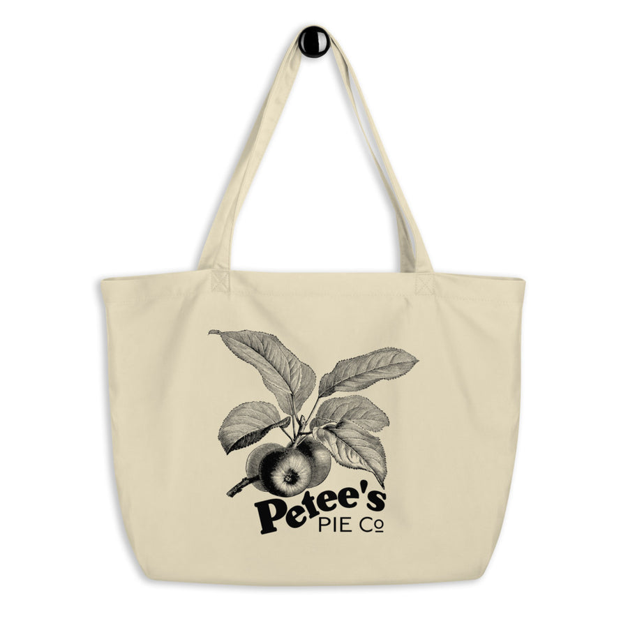 Petee's Big Apple Large organic tote bag - Petee's Merch and Healthcare Worker Drive