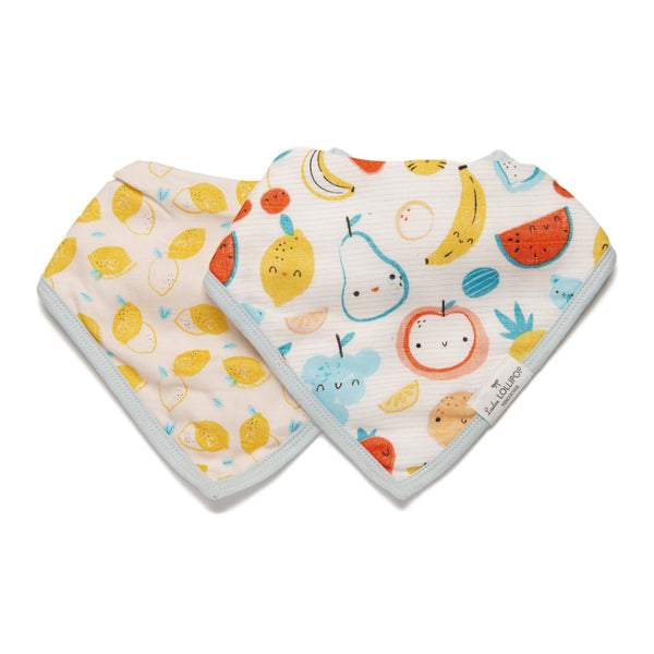 Loulou LOLLIPOP Luxe Muslin Bib Set - Cutie Fruits